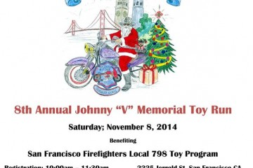 Holiday Toy Run for SF Firefighters Local 798 Toy Program